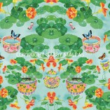 NASTURTIUM  Gabby Malpas wallpaper pattern repeat