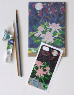 iPhone5 cover sticker and matching card Aussie splendour