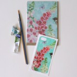 iPhone5 cover sticker and matching card foxgloves