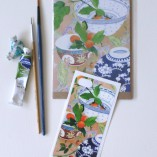 iPhone5 cover sticker and matching card kumquats still life