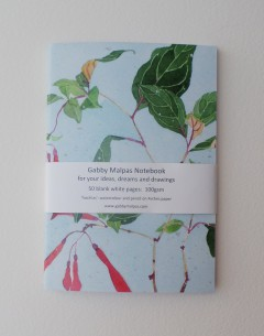 Gabby Malpas Fuschia notebook for artists