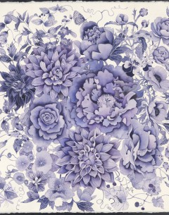 Blue and white florals Archival limited edition print by Gabby Malpas