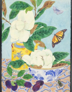 magnolia grandiflora watercolour and pencil on Arches paper Original painting by Gabby Malpas