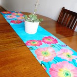 100% cotton oxford table runner by Gabby Malpas Poppies design