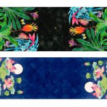 Gabby Malpas double sided table runner lotus and bromeliads design.  100% cotton poplin.  Base design