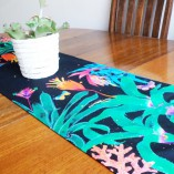 100% cotton oxford table runner by Gabby Malpas Bromeliads design