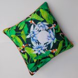 waterlily and lotus cushion cover