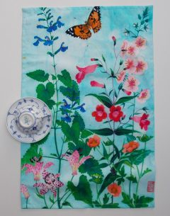 100% Cotton teatowel Sarah's garden design