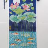 cirebon pond.  Koi and lotus archival print