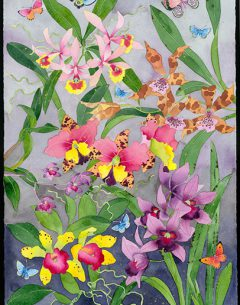 orchids I will not love you long time archival print sale b y gabby malpas