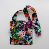 Cross body bag in 100% cotton by Gabby Malpas limited edition Orchid design