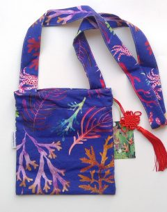 Cross body bag in 100% cotton by Gabby Malpas limited edition Under the sea design