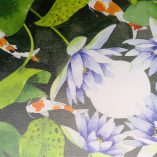 Limited edition Gabby Malpas Canvas print printed in Australia.  waterlilies and koi