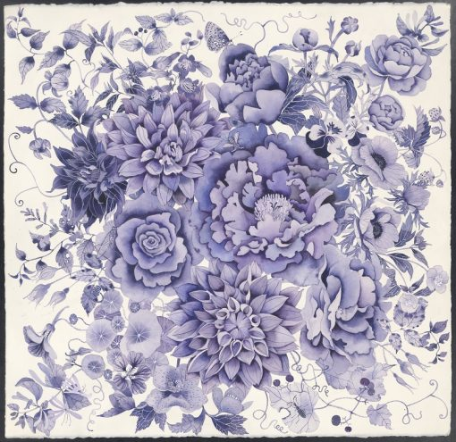Limited edition print on archival paper: Blue and white florals
