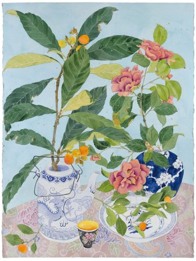 Limited edition print on archival paper: Loquats and camellias