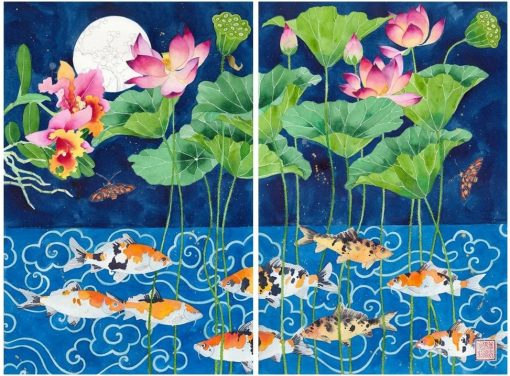 Limited edition print on archival paper: Cirebon pond - diptych