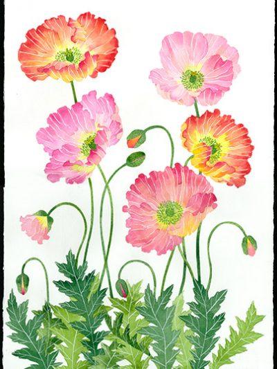 Gabby Malpas original watercolour painting: 'In a Sydney garden'