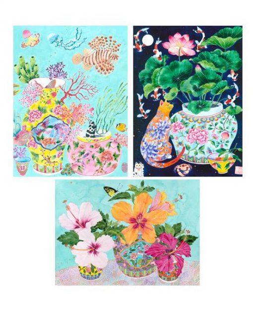 A5 postcard images x 3