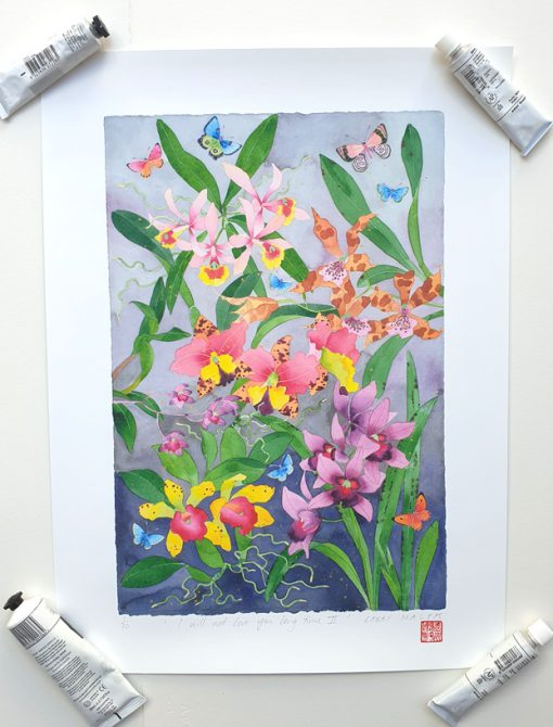 I will not love you long time orchids 29cm x 43cm archival print
