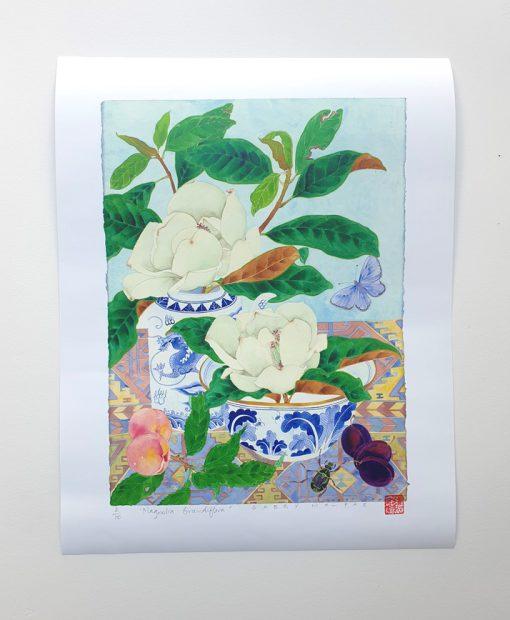 archival print: Magnolia grandiflora 30cm x 40cm