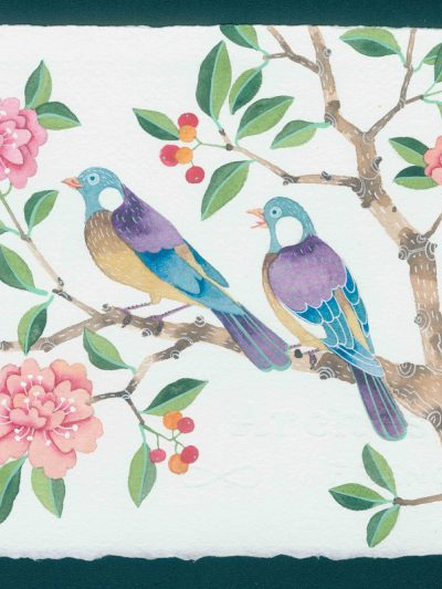 chinoiserie birds 1. watercolour on Arches paper. original painting
