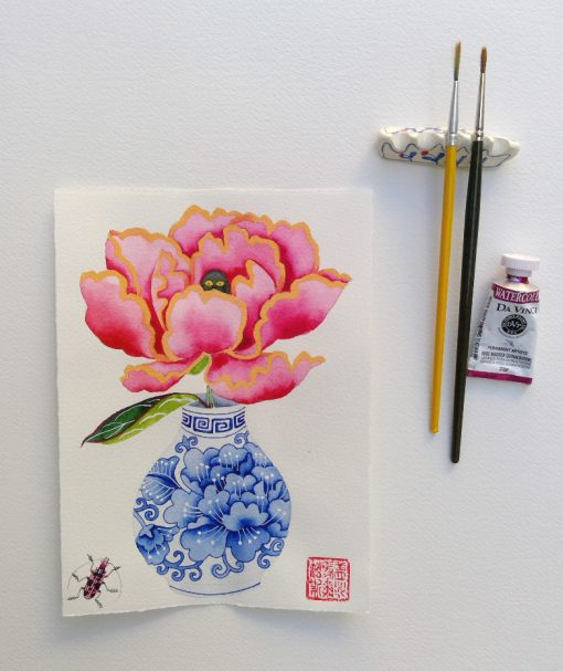 cursed peony1. original watercolor painting on paper