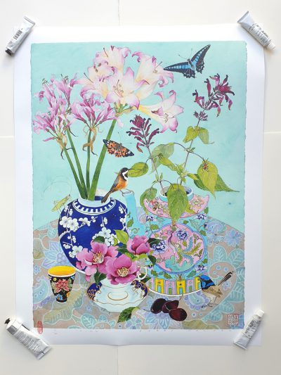 Archival print: pink! 60cm x 81cm